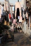 smal shanghai för porslin gata royaltyfri bild
