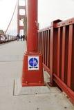 Smal väg för gångare - Golden gate bridge - San Francisco Arkivfoton