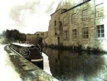 Smala fartyg för kanal på den 200 år berömmen av den Leeds Liverpool kanalen på Burnley Lancashire Arkivfoton