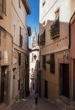 Smala gator av den Toledo staden i Spanien Arkivbild