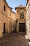 Smala gator av den Toledo staden i Spanien Arkivfoton