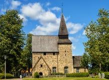 smaland的瑞典Hossmo教会 图库摄影