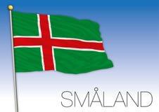 Smaland regional flag, Sweden, vector illustration stock images