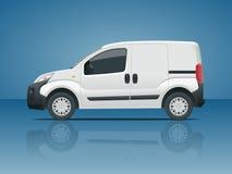 Small范Car 被隔绝的汽车,模板烙记的汽车的和做广告 免版税库存照片