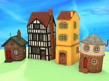 Small 3D houses Stock Photography