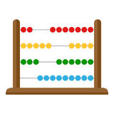 Small Abacus Flat Icon Isolated on White Royalty Free Stock Images