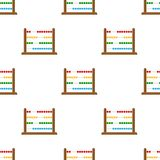Small Abacus Flat Icon Seamless Pattern Royalty Free Stock Photo