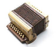 Small accordion. Isolated on white stock photography
