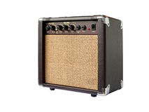 Small acoustic guitar amplifier isolated Royalty Free Stock Image