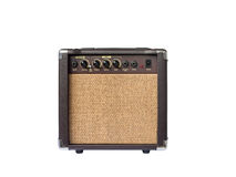 Small acoustic guitar amplifier isolated Stock Image