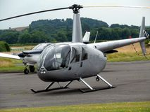 Small Aeroplane and Helicopter Stock Images