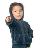 Small afroamerican girl pointing at the camera Royalty Free Stock Photography