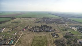 Small agrarian city, Stavropol Krai. Royalty Free Stock Images