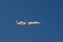 Small Air France Plane. Descending for landing Stock Images