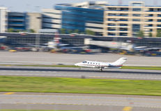Small Aircraft. A small aircraft readies to take off Stock Image