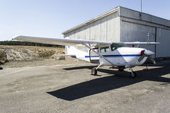 Small aircraft - Cessna 152. I think this is a Cessna 152 possibly from 1970'ies Royalty Free Stock Photography
