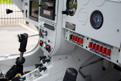 Small aircraft cockpit Royalty Free Stock Photo