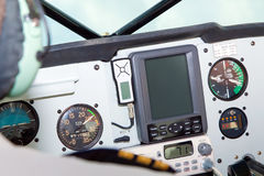 Small Aircraft Cockpit Navigation Gauges and Equipment Stock Images