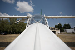 Small aircraft on the ground Royalty Free Stock Photo