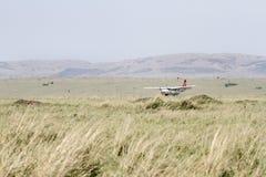 Small Aircraft on Keekorok Airstrip, Masai Mara Stock Photos