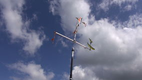 Small aircraft model toy and sky stock footage