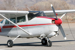 Small airplane. At the airport royalty free stock image