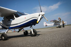 Small airplane Stock Photo