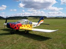 Small airplane. On a airfield Royalty Free Stock Image