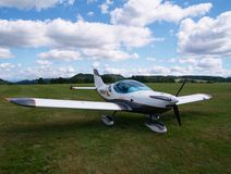 Small airplane. On a airfield Royalty Free Stock Images