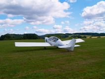 Small airplane. On a airfield Royalty Free Stock Photography