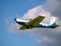Small airplane. In the sky Stock Photos
