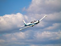 Small airplane. In the sky Royalty Free Stock Image