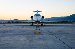 Small Airplane or Aeroplane Parked at Airport. Stock Image