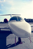 A small airplane on the airport Royalty Free Stock Images