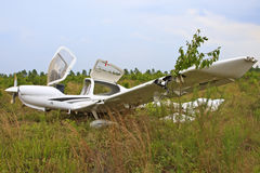 Small Airplane Crash Stock Images
