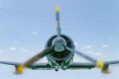 Small airplane in flight Royalty Free Stock Photography