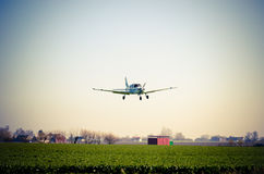 Small airplane flying Royalty Free Stock Photos