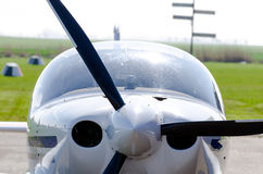 Small airplane front propeller  Royalty Free Stock Photos