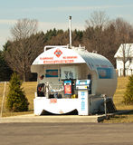 Small airplane fueling station. Aviation fueling station at a small airport Stock Image