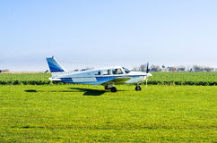 Small airplane on ground Royalty Free Stock Photos