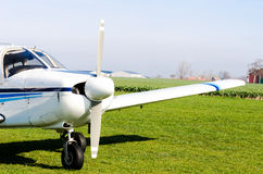 Small airplane on ground Stock Image