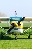 Small airplane on ground Royalty Free Stock Photography