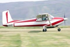 Small Airplane. In Romania, Luncani stock image