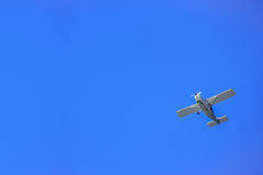 Small airplane and sky blue,New Zealand. Stock Photos