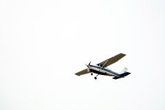 Small airplane in the sky Royalty Free Stock Photos
