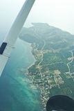 Small airplane. View from the light aircraft stock photos