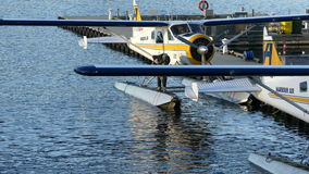 Small airplane on water Vancouver stock video footage