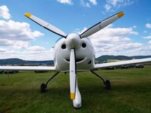 Small airplanes airscrew Stock Photo