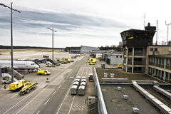 Small Airport. Image of nuremberg airport taken from the upper deck Royalty Free Stock Photography