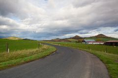 Small airport in Central Bohemian Highlands. Czech Republic Royalty Free Stock Photo
